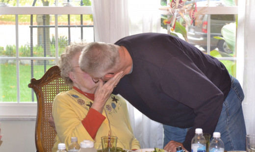 Glasses clinked...and my parents celebrate their 59th Anniversary