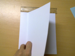 Fold an indent 1 inch width