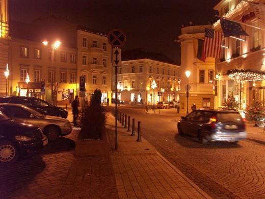 Night Vilnius
