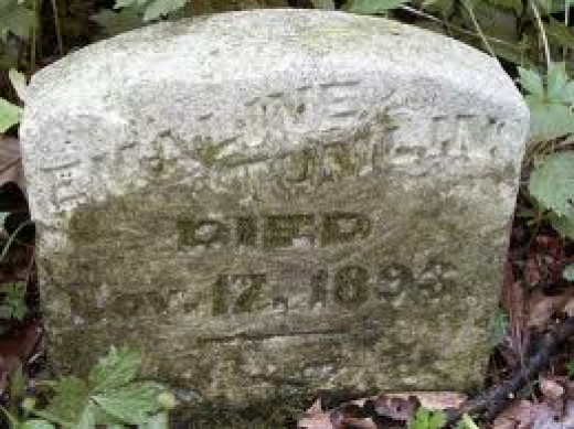 Gravestone at Ashmore