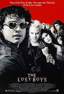 Theatrical poster for The Lost Boys