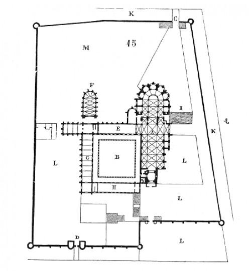 Plan of Saint-Germain-des-Prés Abbey