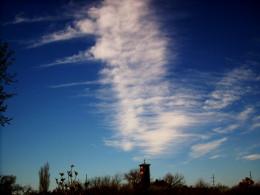 clouds in columns
