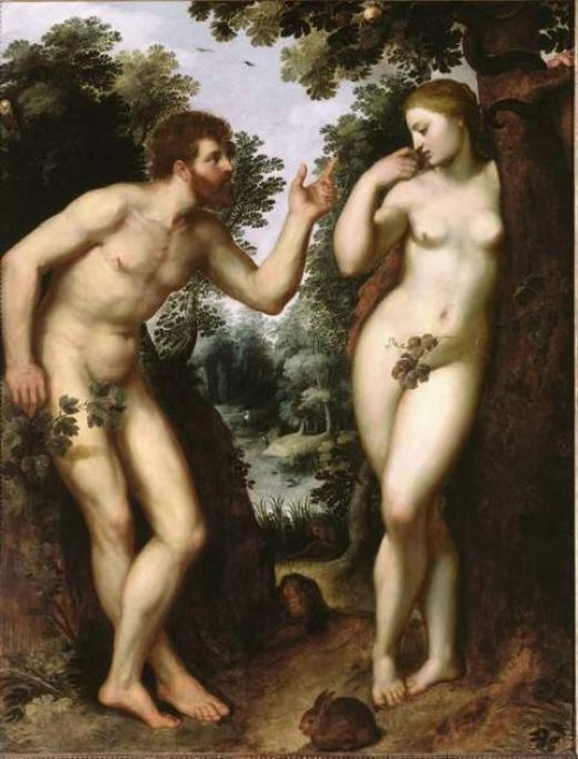 Adam and Eve, by Rubens.     Wait a minute...they are not supposed to have belly buttons :)
