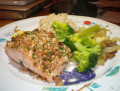 Herb Crusted Salmon with Fresh Veggies Recipe