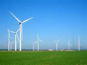 Wind turbines create a clean, safe energy for our planet