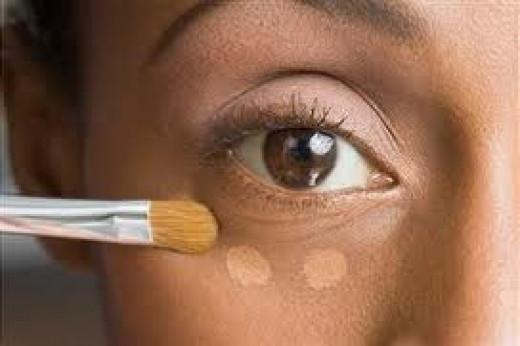 Under-eye concealer application