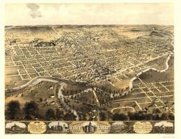 Fort Wayne, Indiana, circa. 1868.