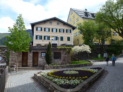 This bridge, staircase, and public toilet in Kitzbühel, Austria were photographed by Leitzsche on May 6, 2012.