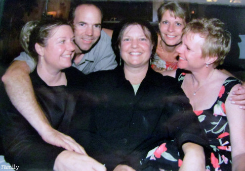 Posing with Family in 2004 at my Benefit