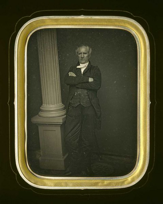 Daguerreotype of Sam Houston from the Museum of Fine Arts Houston