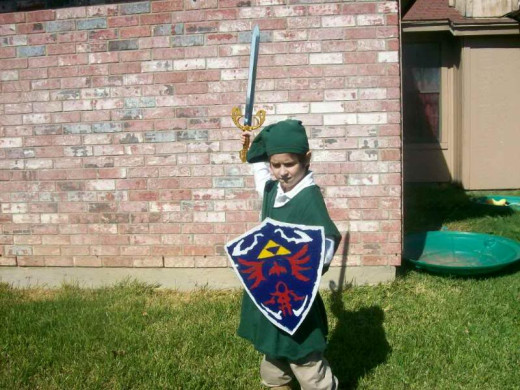 You can make this Link costume with clothing you found at Goodwill.