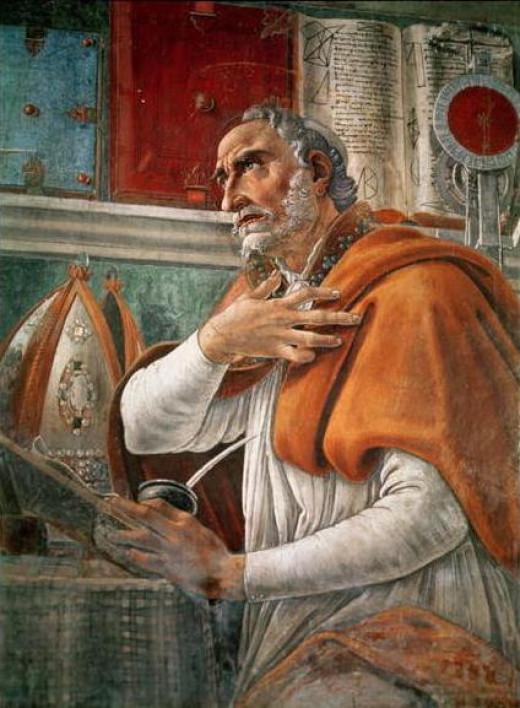 Saint Augustine Portrait by Sandro Botticelli (1445–1510)