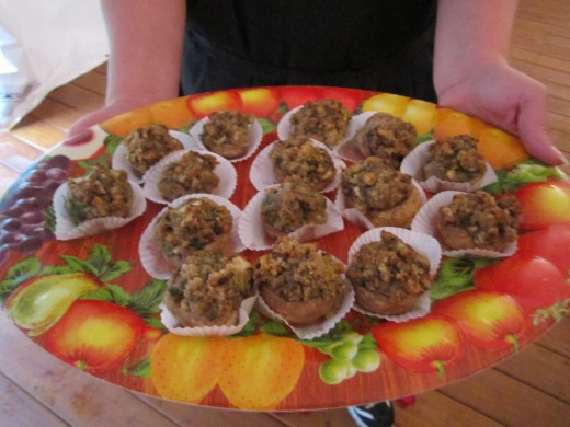 Hour devours? Try the Homemade Spinach Stuffed Mushrooms at Chamberlain Farm Pavilion!