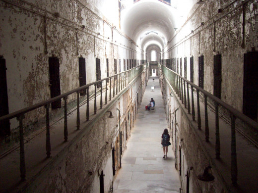 Upper level of Eastern State Penitentiary.