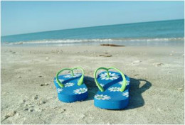 Flip Flops are a NO-NO for seniors to wear outside the home.