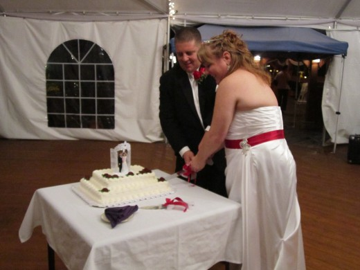 Cutting the Wedding Cake!