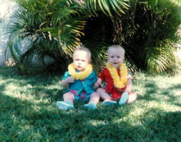 A picture of our boys at about eight months old. I didn't listen to classical music, so they weren't exposed to it, and they turned out just fine.