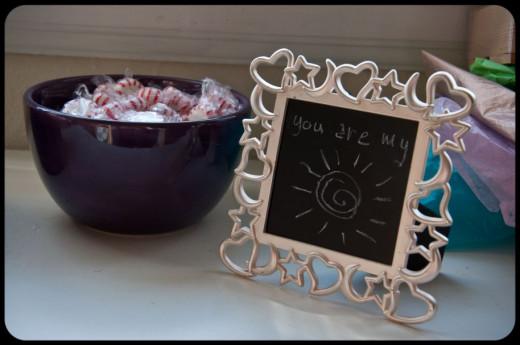 chalkboard photo frames