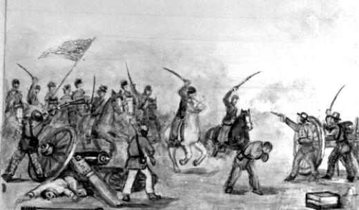 Battle of Mine Creek KS.