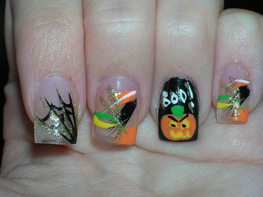 Creative nail art for All Hallows' Eve