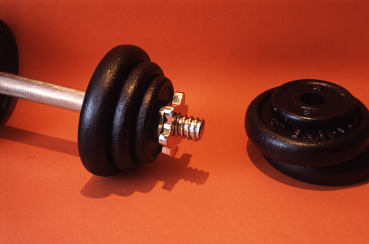 Use weights as part of your fitness routine.