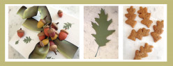 A DIY Fall-Inspired Gift: Painted Acorns, Leaf-Shaped Gift Tag and a Box of Autumn Harvest Ginger Cookies