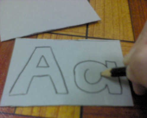 "Draw the capital and small letter ""A"""