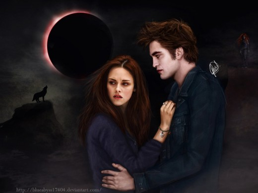 Edward and Bella of the Twilight Saga.  Edward has replaced the horrific Count Dracula and created a character that causes young girls to swoon in love instead of fear.