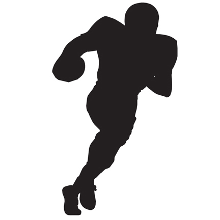 pic of shadow of football player running