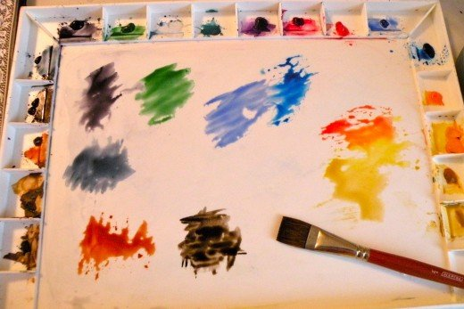 Baby steps to beginning watercolor painting feltmagnet for Basic painting