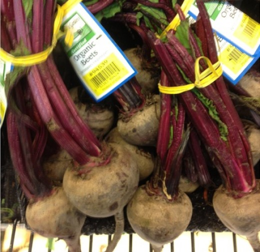Picture of organic beets