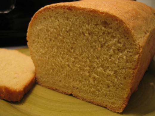 Freshly-baked einkorn bread