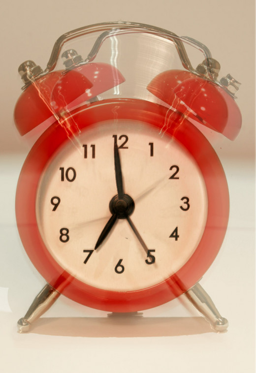 Make friends with your alarm clock. If you go to bed early, you won't be so angry at it when it wakes you up for school!