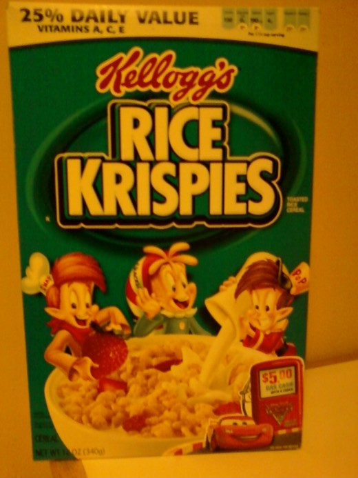 Rice Krispies usually have the recipes on the side of the boxes.