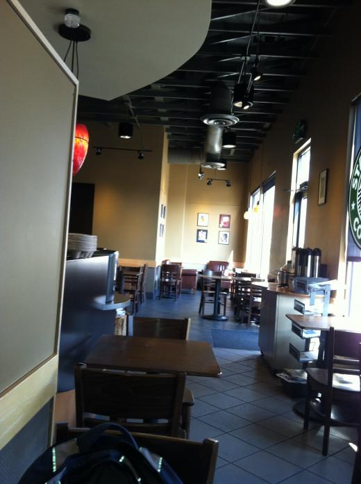 Plaza Starbucks in Walla Walla--Where I've Made Many an eBay Listing