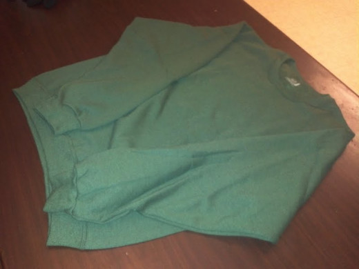 A sweatshirt for a Link Costume, with the sleeves still on...