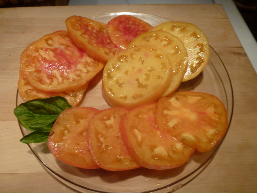 There are few seeds in these meaty  Copia tomato slices.