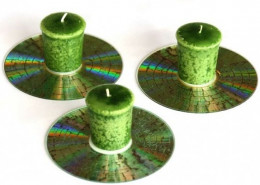 cd candle holder