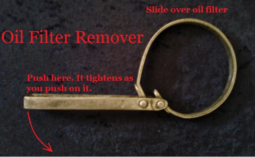Oil filter removal tool