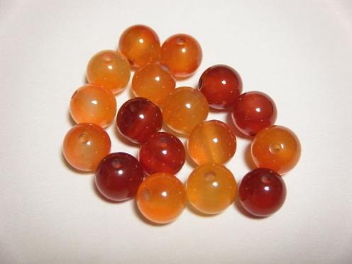 Orange carnelian beads
