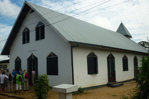 This church in Aurora, Suriname was photographed by Pvt Pauline on November 20, 2011.