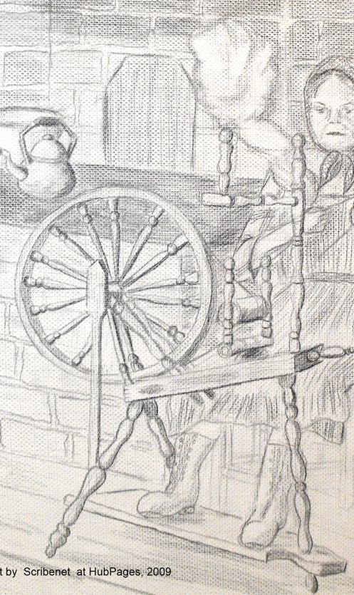 Spinning wool has been done throughout the ages.