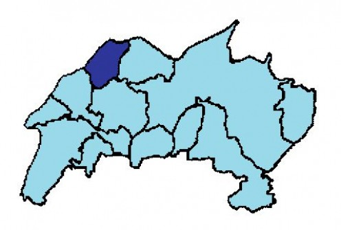 Map location of Oberbillg, in Konz municipal collectivity.
