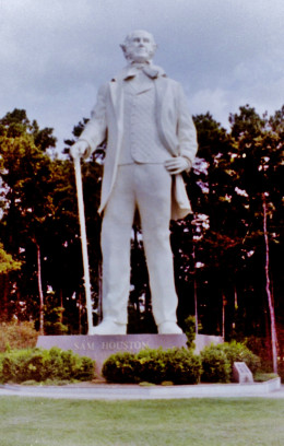 Towering Sam Houston statue near Huntsville, Texas