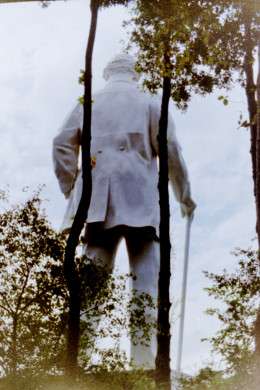 Back of Sam Houston statue / Huntsville