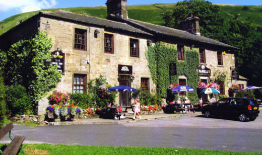 And maybe another stop for refreshments on a warm afternoon at The Buck Inn, Buckden. Then onward...
