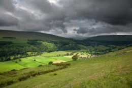 Look across to Langstrothdale from Buckden, get your waterproofs out...