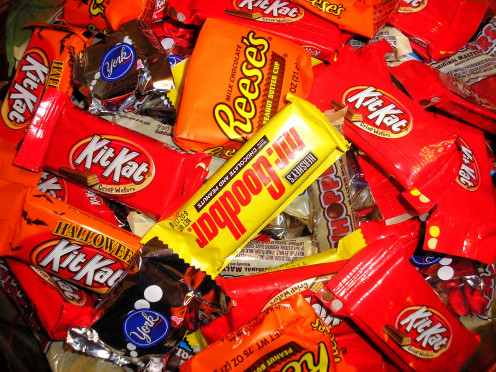 Bite size candy bars - every child's favorite