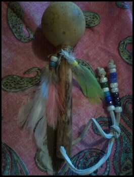Native American Indian Rattle or Shaker